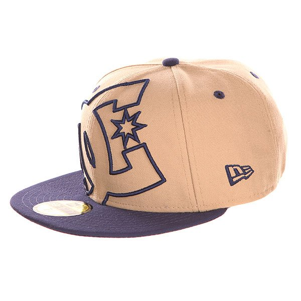 Бейсболка с прямым козырьком DC Coverage Hats Khaki/Navy<br><br>Цвет: синий,бежевый<br>Тип: Бейсболка с прямым козырьком<br>Возраст: Взрослый