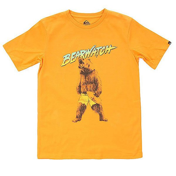 Футболка детска Quiksilver Bearwatch Tees Orange PopКлассическа однотонна футболка с креативным графическим принтом от Quiksilver.Технические характеристики: Хлопковый трикотаж.Классический фасон.Короткие рукава.Креативный принт от Quiksilver на груди.Ярлычок с логотипом на рукаве.<br><br>Цвет: оранжевый<br>Тип: Футболка<br>Возраст: Детский