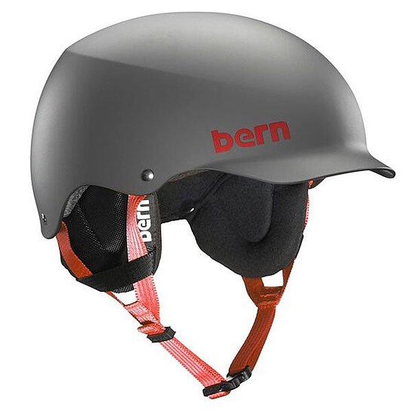 Шлем для сноуборда Bern Snow Eps Team Baker Eps Matte Grey/Cordova Earflaps