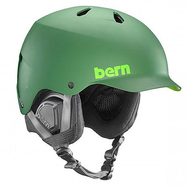 Шлем для сноуборда Bern Snow Eps Watts Eps Leaf Matte Green/Black Liner