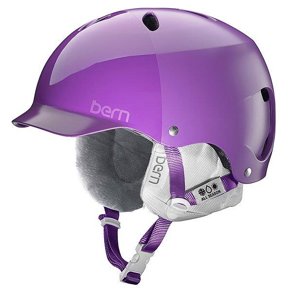 Шлем для сноуборда женский Bern Snow Hardhat Lenox Satin Purple Hatstyle/White Liner