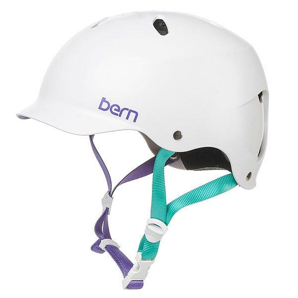 Водный шлем женский Bern Water Lenox Satin Midnight White/BlueУдобная посадка благодаря системе регулировки BOA, амбушюры,совместимые с аудио-системой и стильный силуэт с козырьком для сохранения индивидуальности Вашего снежного лука - шлем Berns Lenox EPS готов не только защитить Вашу голову от ударов, но и добавить комфорта во время катания. Характеристики:Внешняя тонкая оболочка из прочного ABS пластика. Наполнение пеной EPS, защищающей от ударов. Съемный зимний вкладыш EPS. Регулировка по объему BOA. Аудио-совместимые амбушюры. Пассивная система вентиляции поддерживает постоянную циркуляцию воздуха. Логотип на внешней стороне. Сертификаты безопасности:ASTM F 2040 и EN 1077B.<br><br>Тип: Водный шлем<br>Возраст: Взрослый<br>Пол: Женский