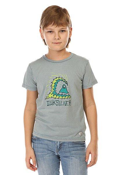 Футболка детская Quiksilver Storm Boy Tees Flint StoneОднотонная детская футболка с креативным принтом Quiksilver.Технические характеристики: Ткань Джерси - трикотажное полотно из шерстяных, хлопчатобумажных, шелковых или синтетических нитей, которое обладает определенной эластичностью и способностью растягиваться.Классический фасон.Короткие рукава.Креативный принт от Quiksilver.Ярлычок с логотипом.<br><br>Цвет: серый<br>Тип: Футболка<br>Возраст: Детский