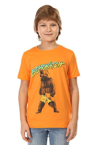 Футболка детская Quiksilver Bearwatch Tees Orange Pop