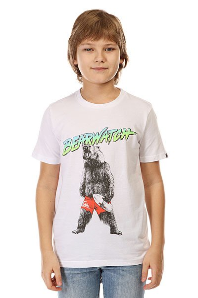 Футболка детская Quiksilver Bearwatch Tees White