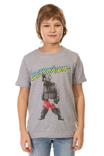 Футболка детская Quiksilver Bearwatch Tees Athletic Heather