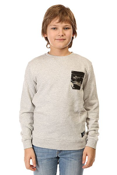 Толстовка свитшот детская DC Bellingham By Otlr Light Heather Grey