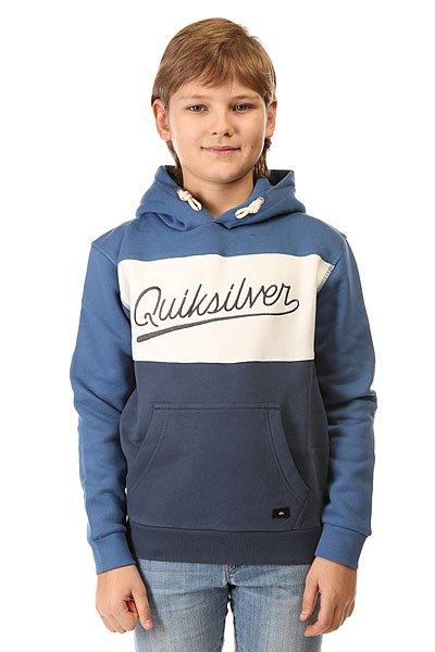 Толстовка кенгуру детская Quiksilver Dark Water Out Otlr Federal Blue