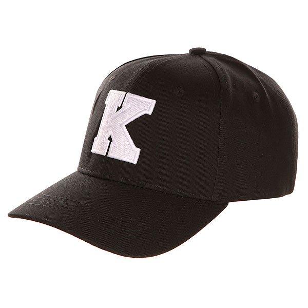 Бейсболка классическая TrueSpin Abc Baseball Cap Black K