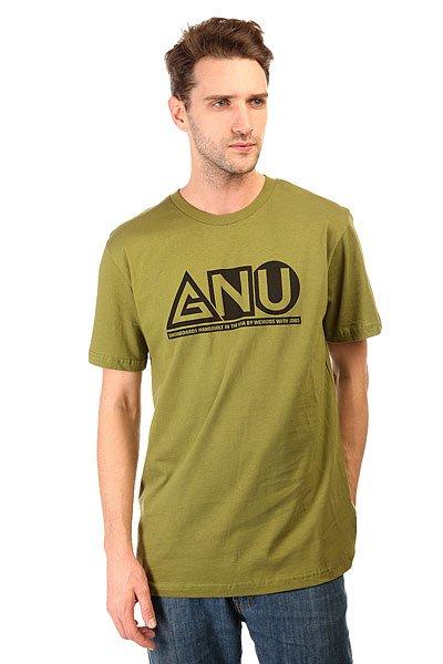 Футболка GNU Мужская Shaper Tee OliveЛегкая футболка в однотонном дизайне с контрастным логотипом GNU на груди.Технические характеристики: Мягкий хлопок.Классический крой.Короткие рукава.Контрастный логотип GNU на груди.<br><br>Цвет: зеленый<br>Тип: Футболка<br>Возраст: Взрослый<br>Пол: Мужской