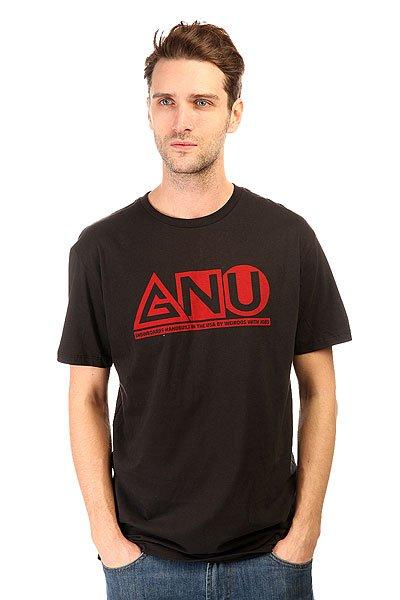 Футболка GNU Shaper Tee BlackЛегкая футболка в однотонном дизайне с контрастным логотипом GNU на груди.Технические характеристики: Мягкий хлопок.Классический крой.Короткие рукава.Контрастный логотип GNU на груди.<br><br>Цвет: черный<br>Тип: Футболка<br>Возраст: Взрослый<br>Пол: Мужской