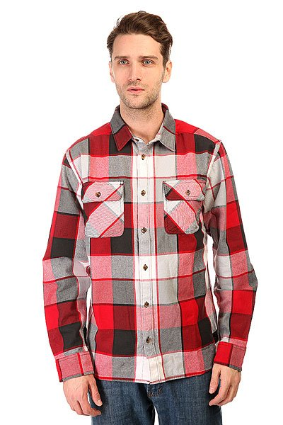 Рубашка в клетку DC Kalis Plaid Ls Wvtp Kalis Plaid Chili Pepper рубашка в клетку dc atura 5 black