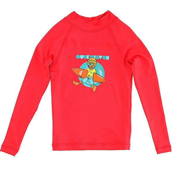 Гидрофутболка детская Quiksilver Relax Ls RedУдобный детский лонгслив от Quiksilver.Характеристики:Из мягкого полиэстера. Принт на груди. Плоские швы. Длинный рукав. Эластичная отделка горловины.<br><br>Цвет: красный<br>Тип: Гидрофутболка<br>Возраст: Детский