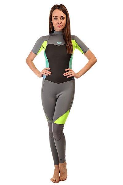 Гидрокостюм (Комбинезон) женский Roxy 2/2mm Syns Slbz Full J Dark Grey/Fresh LemonПрактичный и долговечный женский гидрокостюм для водных видов спорта.Технические характеристики: Неопрен FN Lite, который на 16% легче своих конкурентов с большим количеством воздушных капсул, сохраняющих тепло и экономящих вес.Технология Dry Flight Far Infrared Heat Technology - термо подкладка, которая сохраняет тепло тела.Неопрен THERMAL SMOOTHIE NEOPRENE - на 16% эластичнее своих конкурентов, ветро- и водоустойчивый, чтобы держать тебя в тепле.Тройные проклеенные и прошитые швы GBS.Технология Hydroshield предотвращает попадание воды в костюм через молнию.Неопрен GlideSkin в области шеи.Молния YKK™№10 с длинной лентой для удобного надевания.Регулируемая водонепроницаемая застежка на шее Hydrowrap.Наколенники ECTOFLEX - прочные, легкие и эластичные панели в районе колен.Внутренние карманы для ключей.Толщина 2/2 мм.Яркий контрастный дизайн.Логотип Roxy.<br><br>Цвет: серый,желтый<br>Тип: Гидрокостюм (Комбинезон)<br>Возраст: Взрослый<br>Пол: Женский