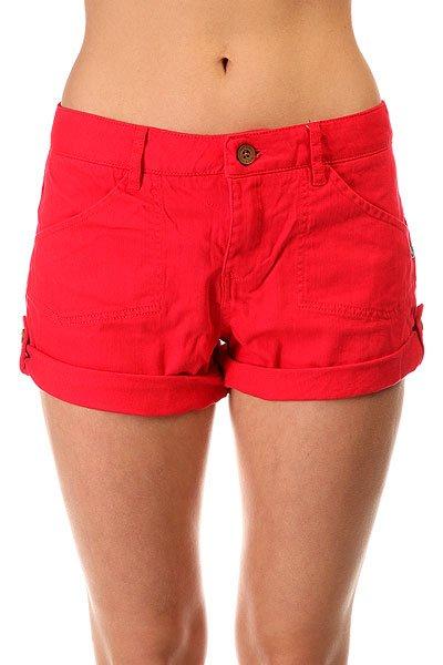 Шорты классические женские Roxy Southern J Ndst Tomato PureeЛегкие летние шорты Southern – новинка из коллекции одежды Roxy.Технические характеристики: Хлопковая ткань.Карманы для рук и задние карманы.Манжеты с отворотом на пуговице.Петли для ремня.Яркий однотонный дизайн.<br><br>Цвет: красный<br>Тип: Шорты классические<br>Возраст: Взрослый<br>Пол: Женский