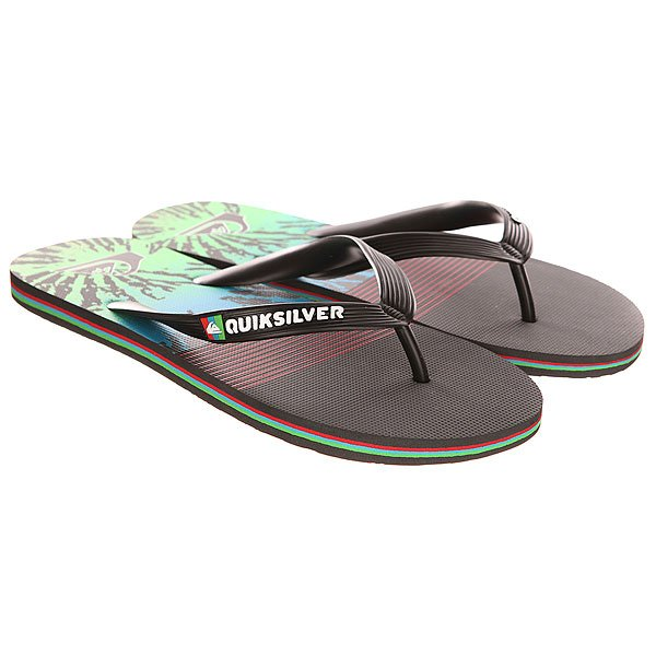 Вьетнамки Quiksilver Molokai Ag47 Re Sndl Black/Red/Green