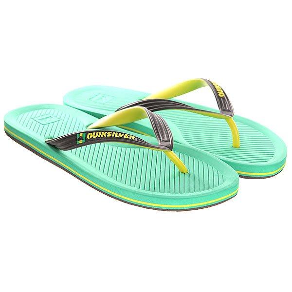 Вьетнамки Quiksilver Haleiwa Sndl Black/Green/Yellow