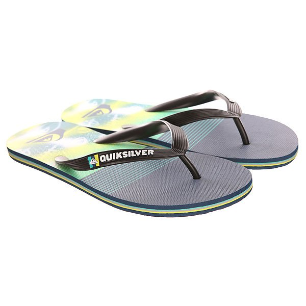Вьетнамки Quiksilver Molokai Ag47 Re Sndl Black/Blue/Green