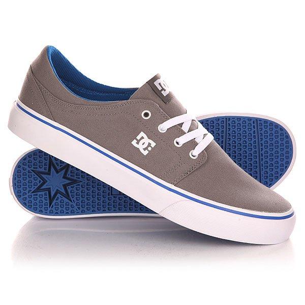 Кеды кроссовки низкие DC Trase Tx Shoe Grey/Blue