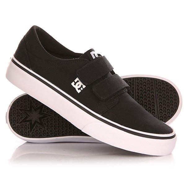 Кеды кроссовки низкие детские DC Trase V B Shoe Black/White кроссовки dc ryan villopoto shoe black camo