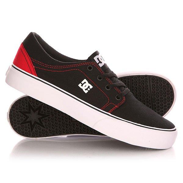 Кеды кроссовки низкие детские DC Trase Tx B Shoe Black/Red кроссовки dc ryan villopoto shoe black camo