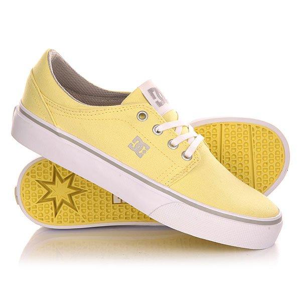 Кеды кроссовки низкие женские DC Trase Tx J Shoe Yellow