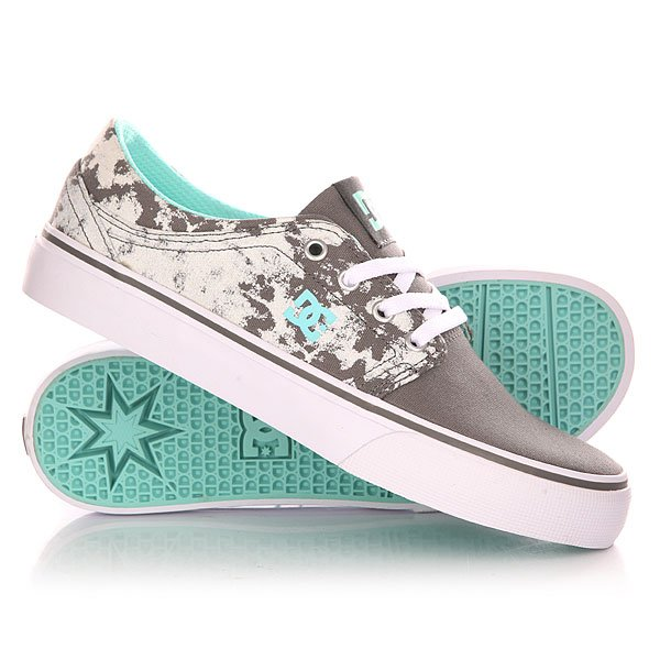 Кеды кроссовки низкие женские DC Trase Tx Se J Shoe Grey/Black/White кроссовки dc ryan villopoto shoe black camo