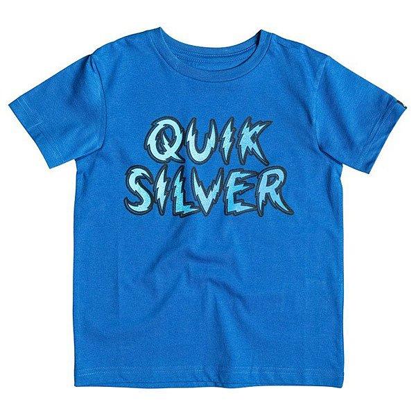 Футболка детская Quiksilver High Voltage K Tees Turkish SeaЯркая детская футболка с креативным принтом Quiksilver.Технические характеристики: Хлопковый трикотаж.Классический фасон.Короткие рукава.Крупный принт Quiksilver.<br><br>Цвет: синий<br>Тип: Футболка<br>Возраст: Детский