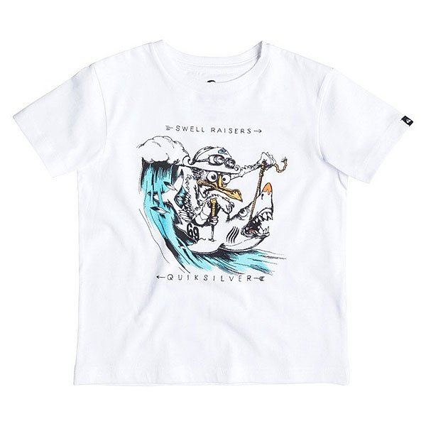Футболка детская Quiksilver Seagull Raiser Tees White футболка quiksilver checker pasts tees flint stone