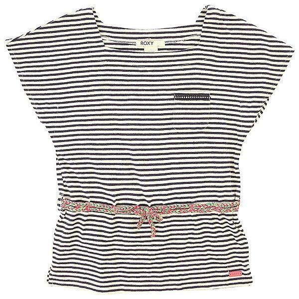 Футболка детская Roxy Evening Kttp Pop Stripes Combo Sa<br><br>Цвет: черный,белый<br>Тип: Футболка<br>Возраст: Детский