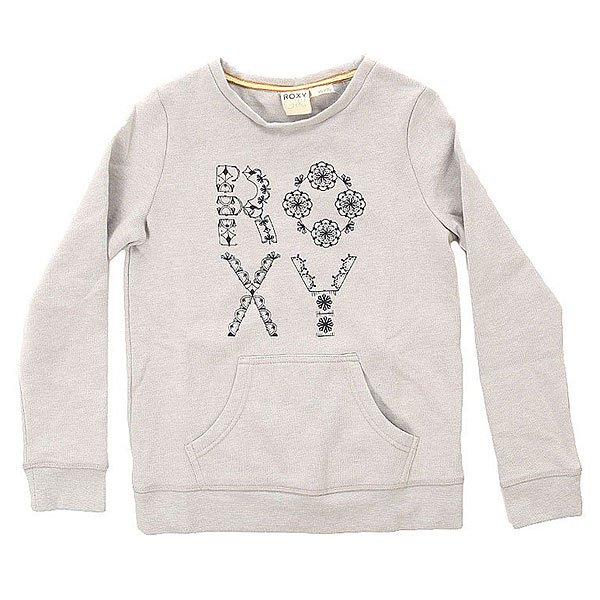 Толстовка кенгуру детская Roxy Full Otlr Heritage Heather<br><br>Цвет: серый<br>Тип: Толстовка кенгуру<br>Возраст: Детский