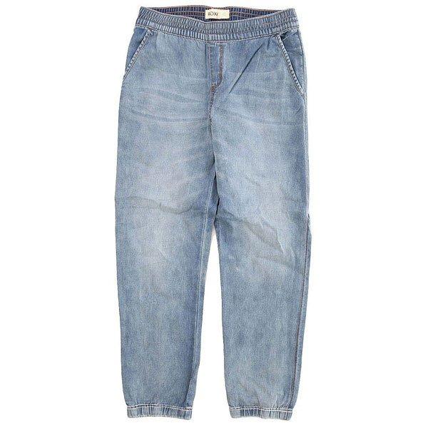 Штаны прямые детские Roxy Make Pant Med Blue Wash<br><br>Цвет: голубой<br>Тип: Штаны прямые<br>Возраст: Детский