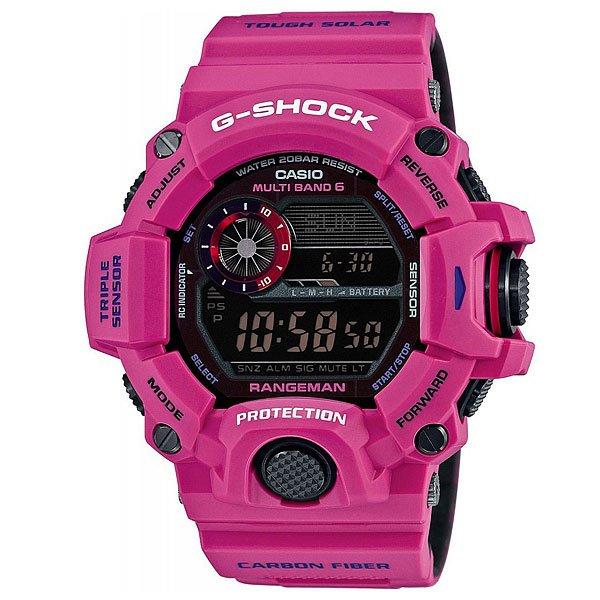 Электронные часы Casio G-Shock Premium Gw-9400Srj-4E PinkМощные и очень функциональные часы в стильном ярком корпусе из полимерного материала.Технические характеристики: Сверхмощная полностью автоматическая светодиодная подсветка.Ударопрочная конструкция защищает от ударов и вибрации.Солнечная батарейка.Прием радиосигнала (Европа, США, Япония, Китай).Барометр (260 / 1.100 гПа).Термометр (-10°C / +60°C).Цифровой компас.Высотометр 10,000м.Данные о восходе/закате солнца.Память данных высотометра.Функция мирового времени.Функция секундомера - 1/100 сек - 1.000 часов.Таймер - 1/1 мин. - 24 часа.5 ежедневных будильников.Функция повтора будильника.Включение/выключение звука кнопок.Автоматический календарь.12/24-часовое отображение времени.Минеральное стекло.Корпус из полимерного пластика.Ремешок из полимерного материала.Индикатор уровня заряда батарейки.Водонепроницаемость (20 Бар).<br><br>Цвет: розовый<br>Тип: Электронные часы<br>Возраст: Взрослый<br>Пол: Мужской
