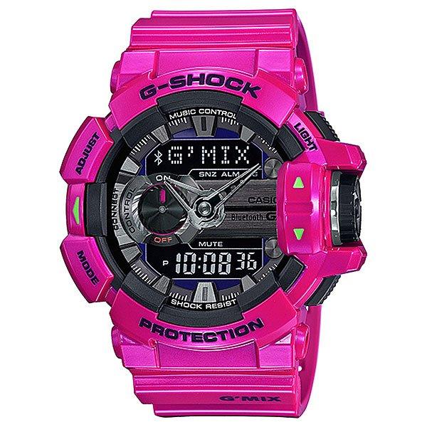 Электронные часы Casio G-Shock Gba-400-4C PinkФункциональные часы в стильном ярком корпусе из полимерного материала.Технические характеристики: Сверх яркая подсветка.Ударопрочная конструкция защищает от ударов и вибрации.LED-индикатор.Функция мирового времени.Функция секундомера - 1/100 сек - 1.000 часов.Таймер - 1/1 сек. - 100 часов.5 ежедневных будильников.Функция повтора будильника.Функция перемещения стрелок.Включение/выключение звука кнопок.Синхронизация со смартфоном при помощи Bluetooth 4.0.Авиа режим (режим оффлайн).Функция колеса прокрутки.Автоматический календарь.12/24-часовое отображение времени.Минеральное стекло.Корпус из полимерного пластика.Ремешок из полимерного материала.Индикатор уровня заряда батарейки.Время работы аккумулятора - 2 года.Водонепроницаемость (20 Бар).Точность +/- 15 сек в месяц.<br><br>Цвет: розовый<br>Тип: Электронные часы<br>Возраст: Взрослый<br>Пол: Мужской