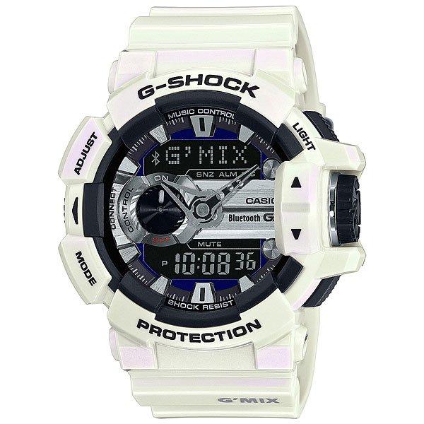 Электронные часы Casio G-Shock Gba-400-7C WhiteФункциональные часы в стильном ярком корпусе из полимерного материала.Технические характеристики: Сверх яркая подсветка.Ударопрочная конструкция защищает от ударов и вибрации.LED-индикатор.Функция мирового времени.Функция секундомера - 1/100 сек - 1.000 часов.Таймер - 1/1 сек. - 100 часов.5 ежедневных будильников.Функция повтора будильника.Функция перемещения стрелок.Включение/выключение звука кнопок.Синхронизация со смартфоном при помощи Bluetooth 4.0.Авиа режим (режим оффлайн).Функция колеса прокрутки.Автоматический календарь.12/24-часовое отображение времени.Минеральное стекло.Корпус из полимерного пластика.Ремешок из полимерного материала.Индикатор уровня заряда батарейки.Время работы аккумулятора - 2 года.Водонепроницаемость (20 Бар).Точность +/- 15 сек в месяц.<br><br>Цвет: белый<br>Тип: Электронные часы<br>Возраст: Взрослый<br>Пол: Мужской