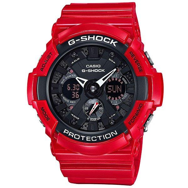 Электронные часы Casio G-Shock Ga-201Rd-4A RedЯркие и функциональные наручные часы в корпусе из полимерного материала.Технические характеристики: Автоматическая светодиодная подсветка.Ударопрочная конструкция защищает от ударов и вибрации.Устойчивость к воздействию магнитного поля.Функция мирового времени.Функция секундомера - 1/1000 сек - 100 часов.Таймер - 1/1 мин. - 24 часа (с автоматическим повтором).5 ежедневных будильников.Функция повтора будильника.Отображение скорости - можно рассчитать среднюю скорость пройденного маршрута.Автоматический календарь.12/24-часовое отображение времени.Минеральное стекло - прочное, устойчивое к царапинам минеральное стекло защищает часы от повреждений.Корпус из полимерного пластика.Ремешок из полимерного материала.Время работы аккумулятора - 3 года.Водонепроницаемость (20 Бар).Точность +/- 15 сек в месяц.<br><br>Цвет: красный<br>Тип: Электронные часы<br>Возраст: Взрослый<br>Пол: Мужской