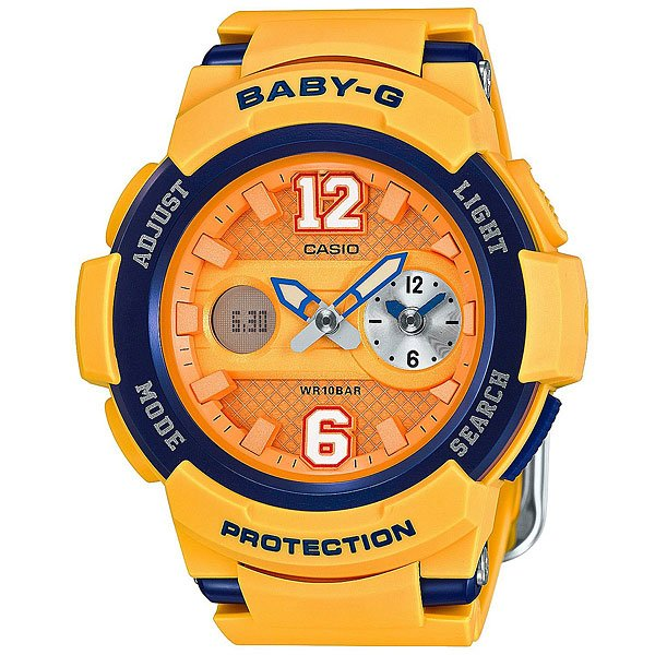 Кварцевые часы Casio Baby-G Bga-210-4B Yellow/Blue кварцевые часы casio baby g bga 210 7b1 white grey