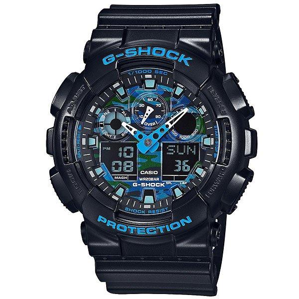Кварцевые часы Casio G-Shock Ga-100Cb-1A Navy casio g shock punching pattern ga 110lp 1a