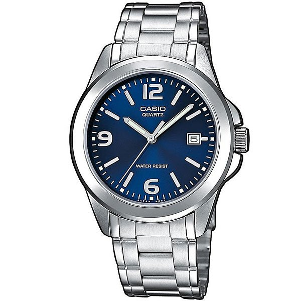 Кварцевые часы Casio Collection Mtp-1259Pd-2A Grey/Blue casio mtp 1259pd 1a