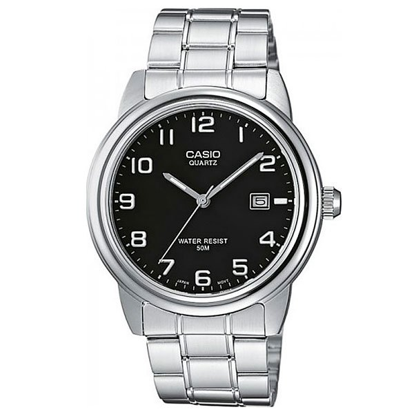 Кварцевые часы Casio Collection Mtp-1221A-1A Grey/Black часы casio collection mtp 1314pd 1a silver black