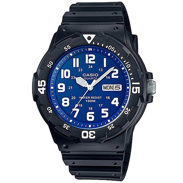 Кварцевые часы Casio Collection Mrw-200H-2B2 Black/Blue casio watch fashion medium student watch mrw 200h 1b mrw 200h 1b2 mrw 200h 1e mrw 200h 2b mrw 200h 2b2 mrw 200h 3b mrw 200h 4b