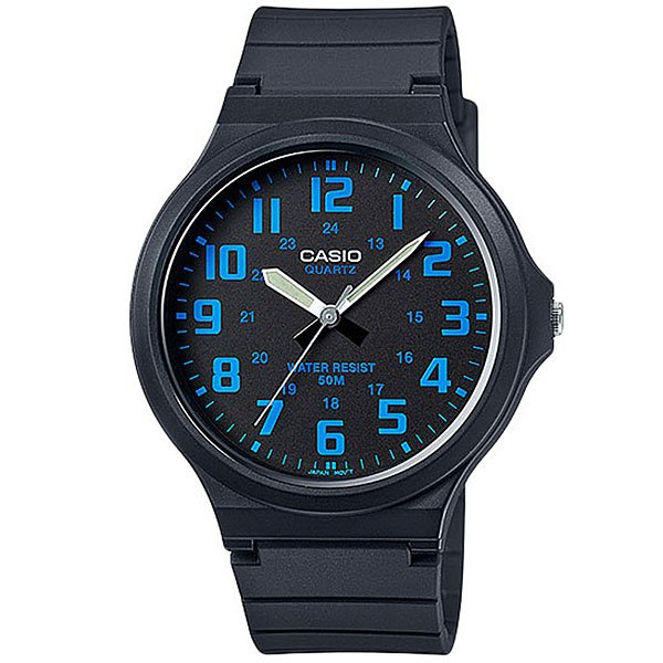 Кварцевые часы Casio Collection Mw-240-2B Black/Light Blue