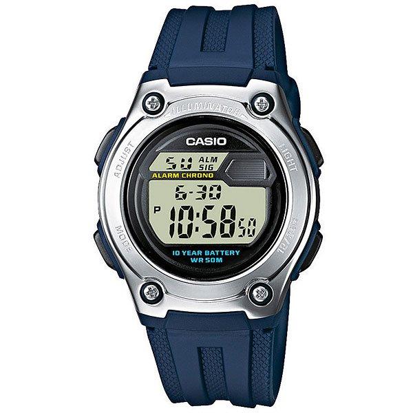 Электронные часы Casio Collection W-211-2A Blue/GreyCasio Collection W-211-2A - это мужские часы с кварцевым механизмом, выполненные в корпусе из пластика и нержавеющей стали. Характеристики:Часы оснащены функциями будильника, секундомера, календаря. Класс водонепроницаемости часов - WR50 (5 атмосфер). Светодиодная подсветка. Десять лет - один аккумулятор.Функция секундомера- 1/100 сек. - 24 часа. Издавая звуковой сигнал в установленное время, будильник напоминает о событиях, которые повторяются каждый день. Кроме того, настраиваемый звуковой сигнал предупреждает вас об истечении каждого полного часа. После настройки автоматический календарь всегда отображает точную дату.Отображение времени можно в 12-часовом или 24-часовом формате. Поверхность стекла часов является выпуклой. Это обеспечивает высокий уровень прочности и устойчивости к давлению. Корпус из нержавеющей стали и полимерного пластика.Натуральный полимерный материал является идеальным для изготовления ремешка благодаря своей чрезвычайной прочности и гибкости. Второй часовой пояс. Точность: +/- 20 сек в месяц.Тип батареи: CR2016. Официальная гарантияCASIO, срок гарантийного обслуживания - 1 год.<br><br>Цвет: синий,серый<br>Тип: Электронные часы<br>Возраст: Взрослый<br>Пол: Мужской