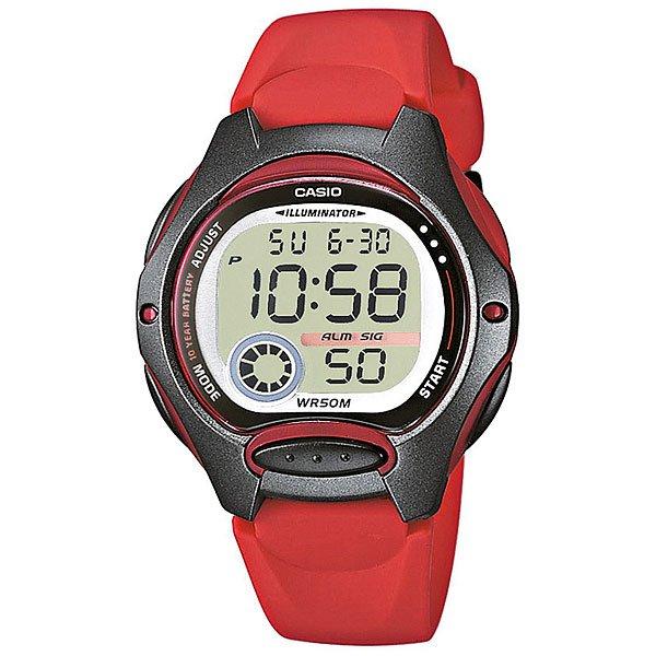 casio женские японские наручные часы shn 3011d 4a Электронные часы Casio Collection Lw-200-4A Red/Grey