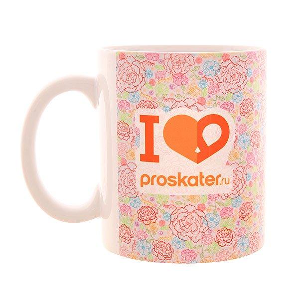 Кружка Proskater.ru Rose SS16 Подарок<br><br>Цвет: белый,оранжевый<br>Тип: Кружки