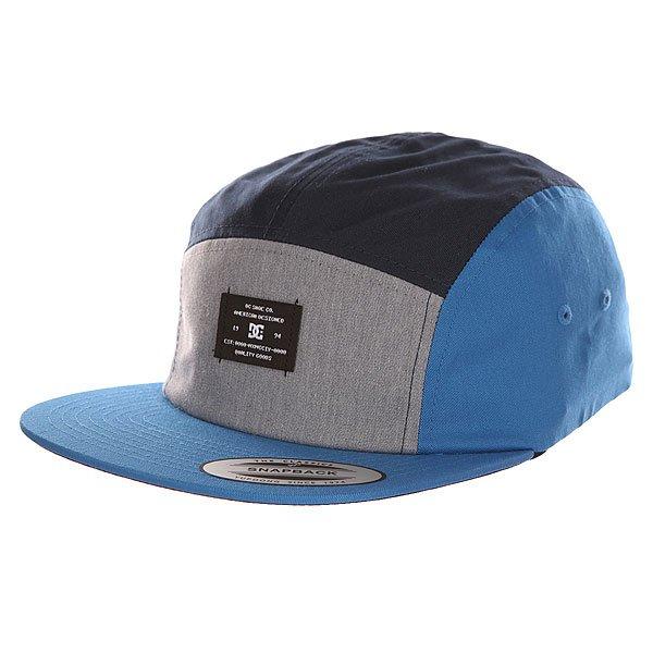 Бейсболка пятипанелька DC Campy Blue Iris<br><br>Цвет: синий,серый,голубой<br>Тип: Бейсболка пятипанелька<br>Возраст: Взрослый<br>Пол: Мужской