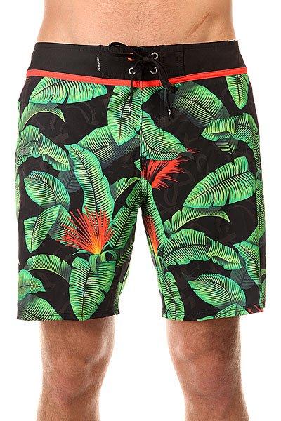 Шорты пляжные Quiksilver Glitched Bdsh Glitched Green Gecko<br><br>Цвет: черный,зеленый<br>Тип: Шорты пляжные<br>Возраст: Взрослый<br>Пол: Мужской