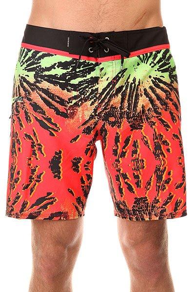 Шорты пляжные Quiksilver Glitched Bdsh Glitched Fiery Coral