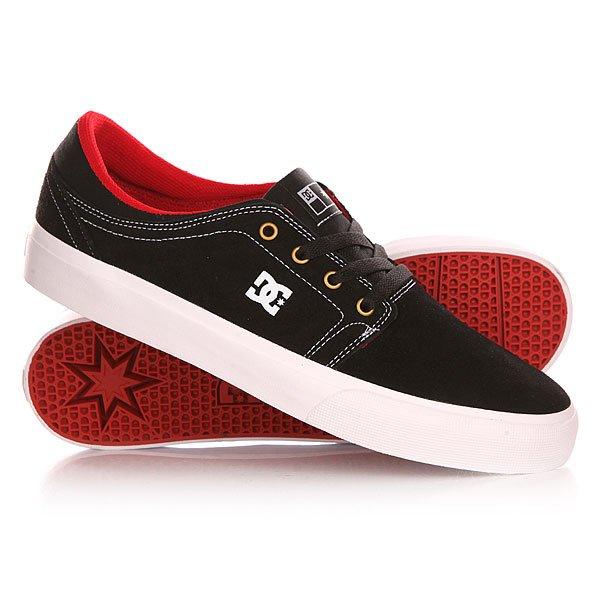 Кеды кроссовки низкие DC Trase S Black/White/True Red