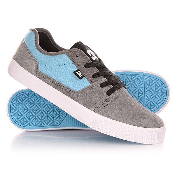 Кеды кроссовки низкие DC Tonik Grey/Carolina Blue